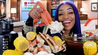 Dungeness Crab and Jumbo Snow Crab Legs Seafood Boil