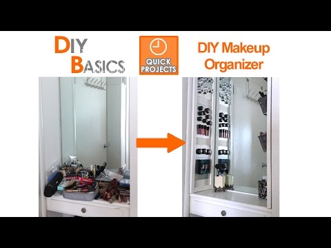 Organizing Tips: DIY Makeup Organizer