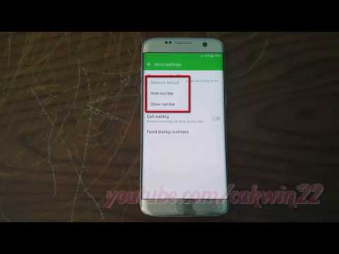 Samsung Galaxy S7 Edge : How to Show or Hide Phone Number in outgoing calls (Android Marshmallow)