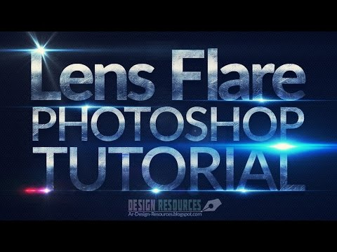 How to create Lens flare Brushes — Photoshop Tutorial
