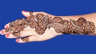 Beautiful Mehndi Designs For Hands | Simple Arabic Mehndi Design For Hands #90 @ jaipurthepinkcity