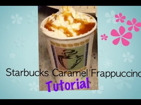 Starbucks Caramel Frappuccino Tutorial