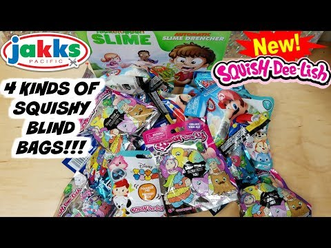 NEW SQUISH DEE LISH BLIND BAGS UNBOXING~ TSUM TSUMS, NINTENDO and SQUISH DEE LISH SERIES SQUISHES