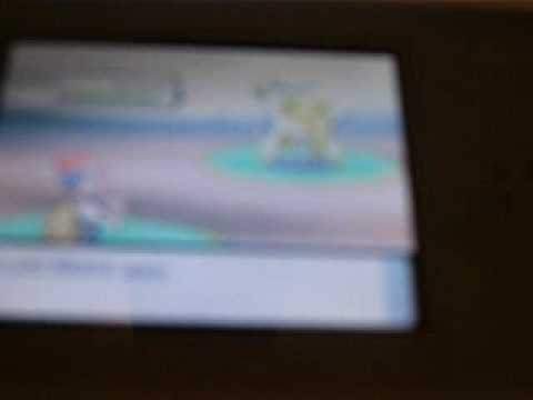 How to catch arceus  in pokemon diamond (without action replay)