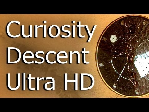 Mars Curiosity Descent - Ultra HD 30fps Smooth-Motion