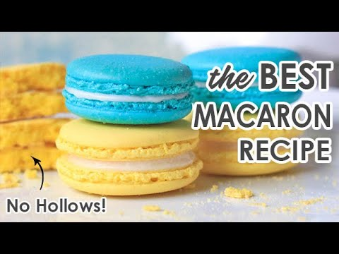 Complete Video Tutorial on How to Bake French Macarons with No Hollows
