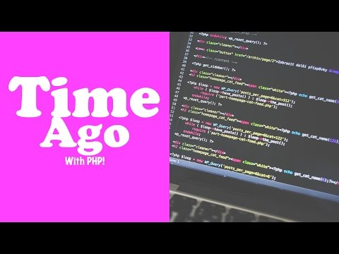 Display Time Ago like Twitter and Facebook with PHP