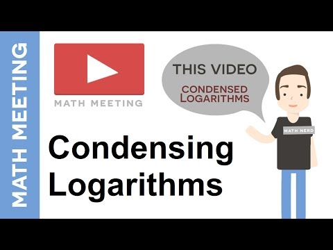 Condensing logarithms - Using the properties of logs