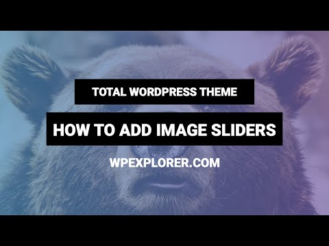 How to Add an Image Slider | Total WordPress Theme