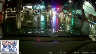 Scooter rider rear ended giving way to emergency Vehicle - Sydney NSW