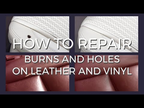 Repair burns and holes on leather and vinyl with Coconix Leather Care Pro