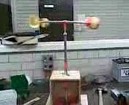 Homemade wind speed anemometer