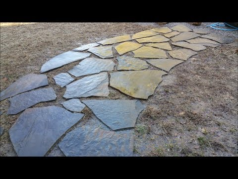 DIY Laying out flagstone walkway with Mrs. Kapper 01-28-18