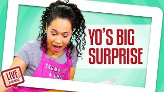 Yo gets a HUGE SURPRISE!! And Blindfold Challenge  Part Two!!! | Yolanda Gampp | How To Cake It