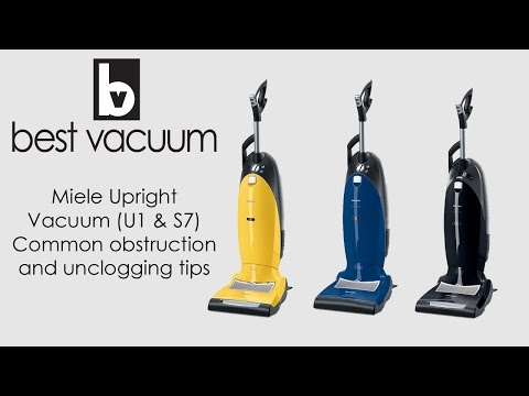 How to Unclog A Miele Upright Vacuum (S7000 / U1 Models)