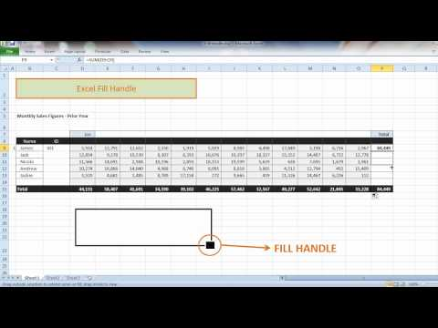 Excel 2010 Lesson - Fill Handle