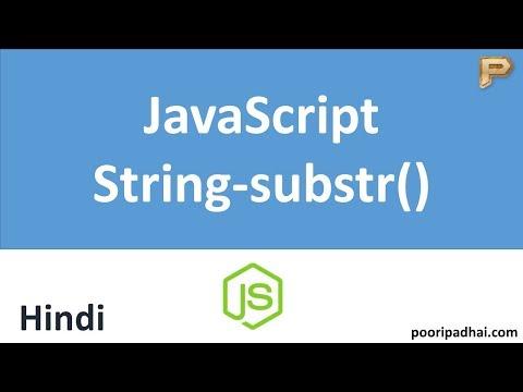 JavaScript substr Method - Hindi