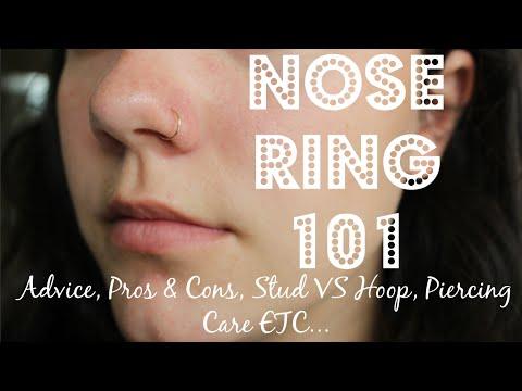 NOSE PIERCING 101 | Advice, Pros & Cons, Stud VS Hoop, Care + PHOTOS
