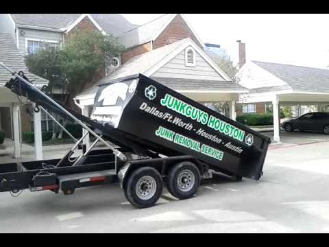 JunkGuys Apartment Complex Dumpster Cleaning Junk Removal Service