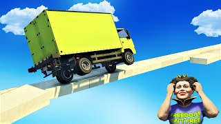 GTA 5 🐸 Two Wheel Balancing Truck Parkour
