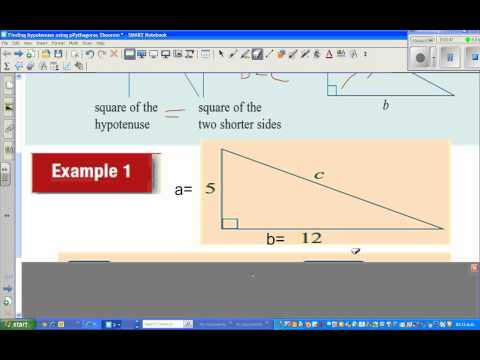 Finding the length of hypotenuse in a right angled triangle