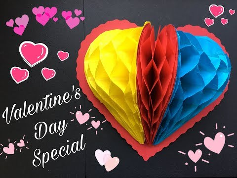 Valentine's Day Special !! Pop Up Heart Card ! Web Heart Card ! CraftwithTK