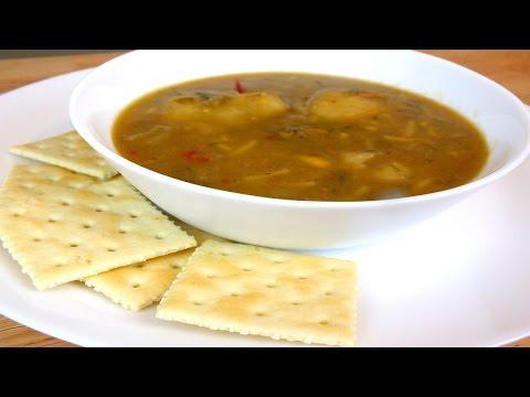 Caribbean Split  Pea Soup with Dumplings: Soup Recipe