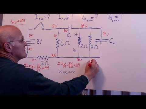 RC Circuit Hard HW Problem - 4 resistors 2 capacitors