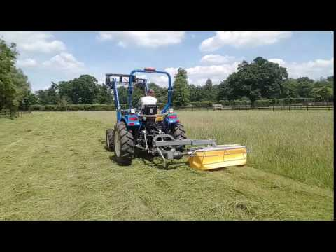 Hay Cutting with the Compact Tractor