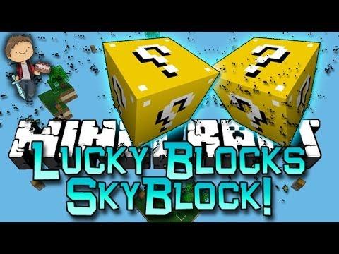 Minecraft: Lucky Block SkyBlock Warriors! Modded Mini-Game w/Mitch & Friends!