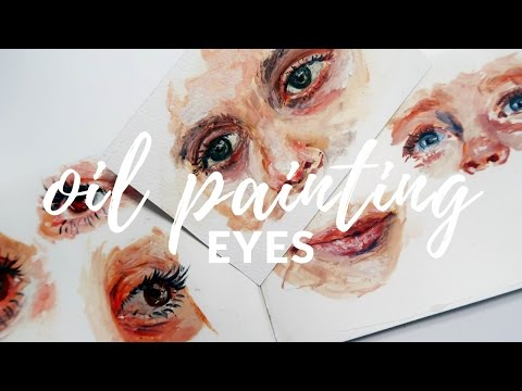 HOW I PAINT EYES with mixing skin tones | Katie Jobling Art