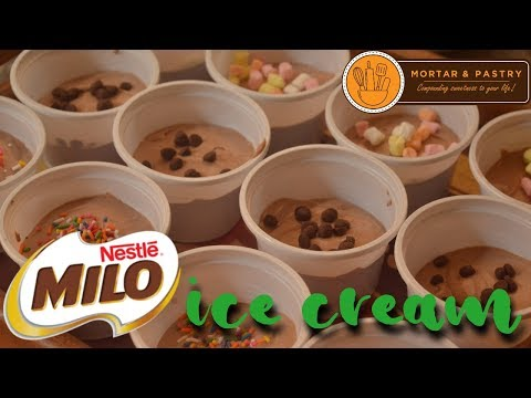 MILO ICE CREAM   How To Make Easy 3-ingredient No Churn Ice Cream   Ep.17   Mortar & Pastry