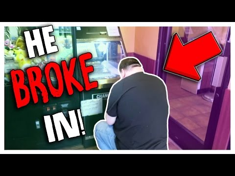 I CAUGHT HIM BREAKING INTO MY COIN PUSHER!!!!
