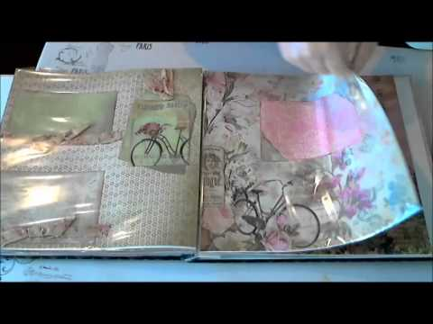 Scrapbookgiggles Parisian Chic Girl Chipboard Scrapbook Album Full Size 12x12 with 20 pages
