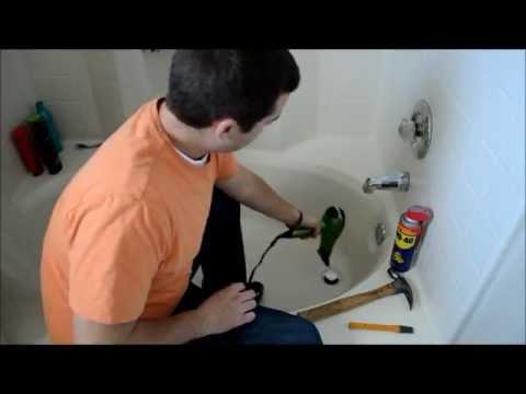 Removing a Broken Tub Drain
