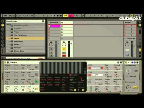 Ableton Live Tutorial: Dubstep Talking Wobble Bass w/ Operator