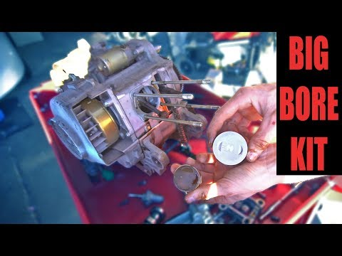 100cc BIG BORE KIT INSTALL ON 50cc SCOOTER | Making a Moped Faster