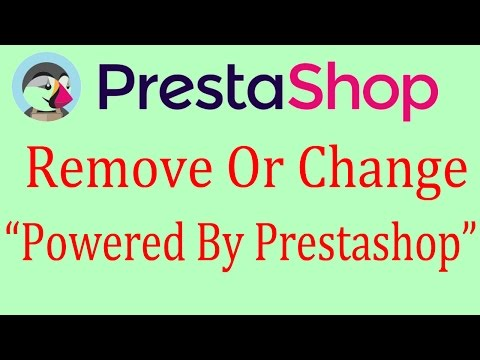 Prestashop Tutorial - Remove Or change Copyright Information