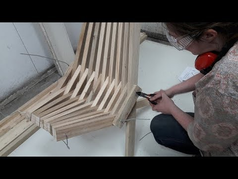 Simple to make folding stick chair