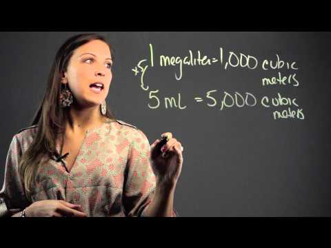 How to Convert Megaliters to Cubic Meters : Math Education