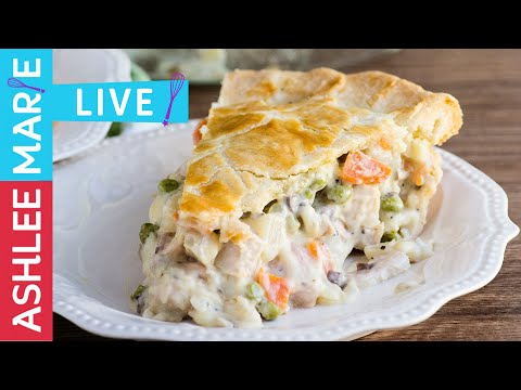 LIVE - How to make homemade Turkey Pot Pie - Thanksgiving leftovers