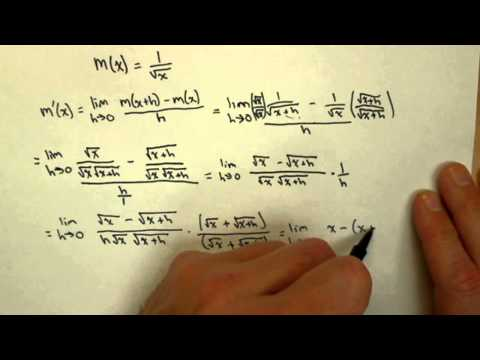 Derivative of 1 over square root of x using limit definition calc1 21pt6