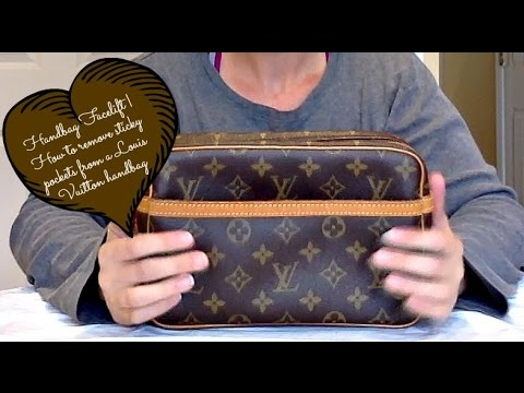 Handbag Facelift   How I removed the stickiness in the pockets of my Louis Vuitton Compiegne 23