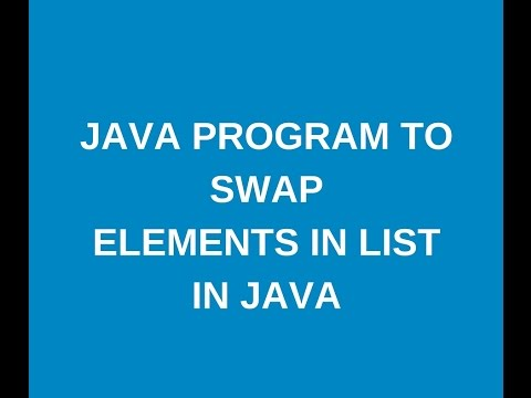 How to swap elements in list in java?