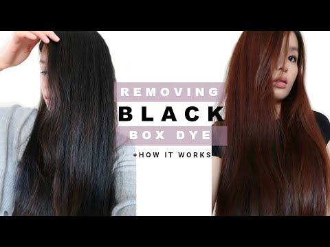 REMOVING PERMANENT BOX DYE IN HAIR & WHY IT WORKED| Easy at home remedy for colored hair, NO BLEACH