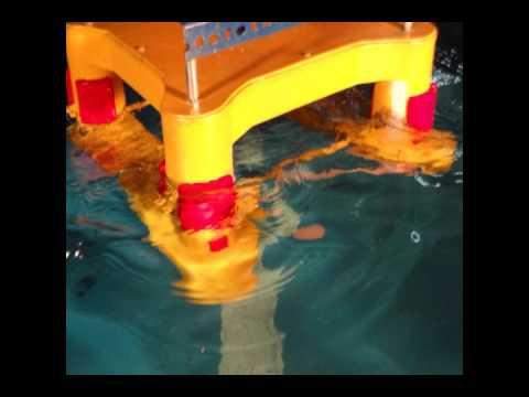 Semisubmersible offshore platform model test