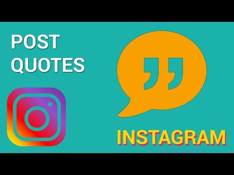 How to post quotes for Instagram (iOS)
