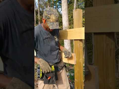How to build a 4 board fence by yourself