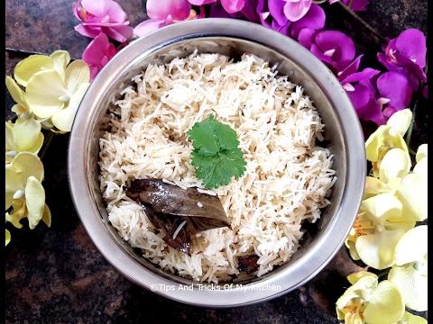 Jeera Rice Recipe | Jeera Rice In Pressure Cooker | Quick Jeera Rice | How To Cook Jeera Rice