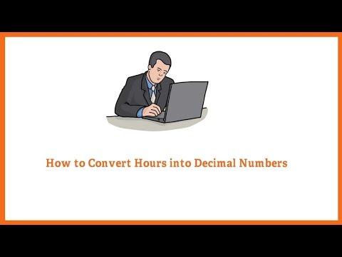 Convert Hours to Decimal